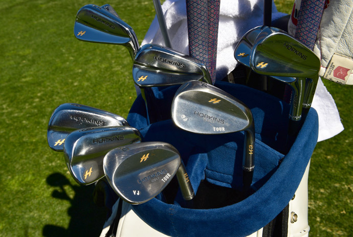 Three-time major winner Vijay Singh now plays Hopkins muscleback irons and wedges and TaylorMade M1 woods.