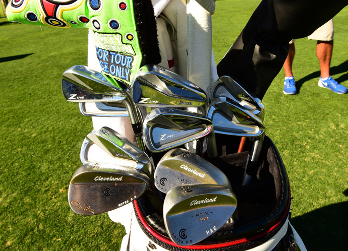 Srixon player William McGirt also carries Cleveland wedges and a Scotty Cameron putter with his children's names stamped in color.