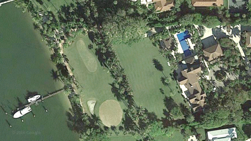 An aerial view of the $55 million property Greg Norman is selling.