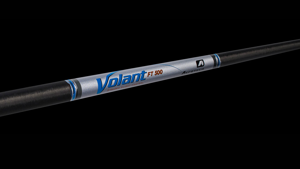 One of the new Aerotech Volant graphite iron shafts.