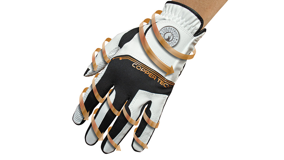 The Copper Tech golf glove is meant to soothe muscle aches and joint pains.