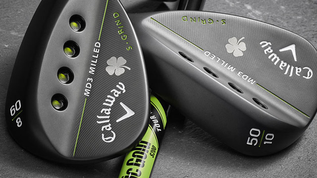 Another look at the Callaway MD3 Milled Shamrock wedges.