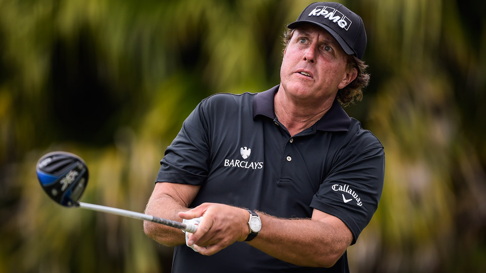 Phil Mickelson shot a 67 on Thursday at Trump Doral.