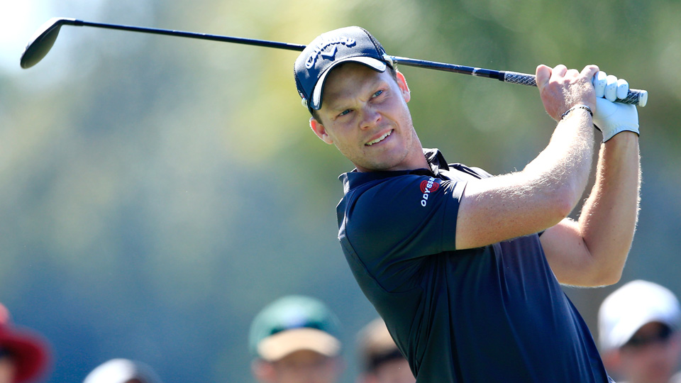 Danny Willett tees off on the fifth hole during the final round of the WGC-Cadillac Championship at Trump National Doral on March 6, 2016, in Doral, Florida. Willett tied for third and finished two off the lead.