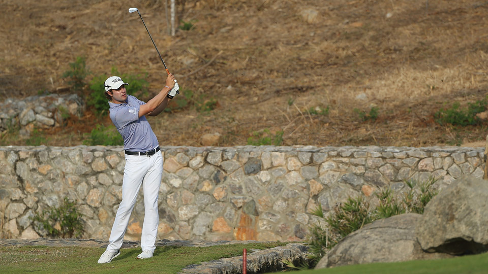 Peter Uihlein in action during the first round of the 2016 True Thailand Classic at Black Mountain Golf Club on March 9, 2016, in Hua Hin, Thailand.