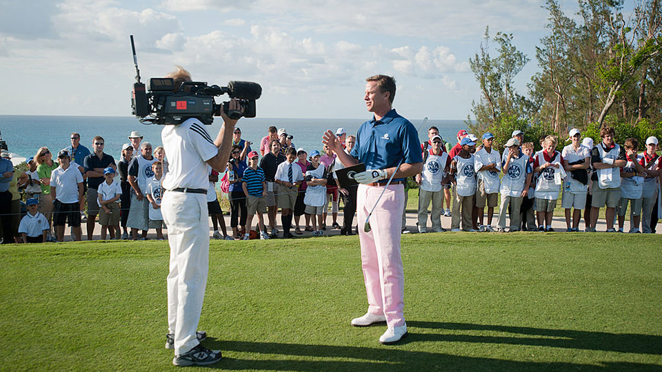 Michael Breed, host of the Golf Fix, during the 28th PGA Grand Slam Champions' Clinic at the Port Royal Golf Course in Southampton, Bermuda, on Monday, October 18, 2010.