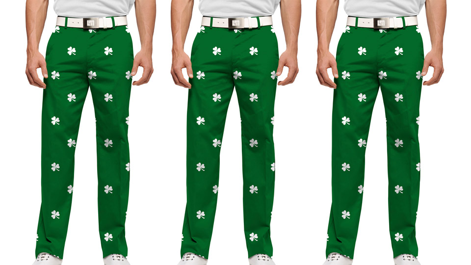 A St. Patrick's Day ready look for the golf course from Loudmouth Golf.