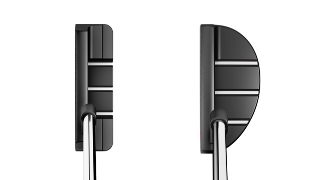 View at address: Odyssey Toe Up #1 Putter, Odyssey Toe Up #9 Putter