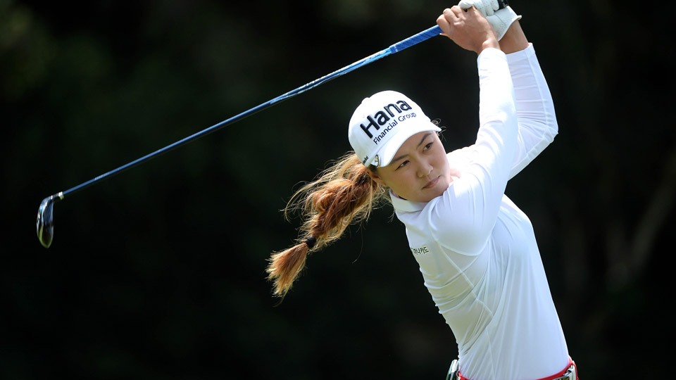 Minjee Lee during the second round of the Kia Classic.