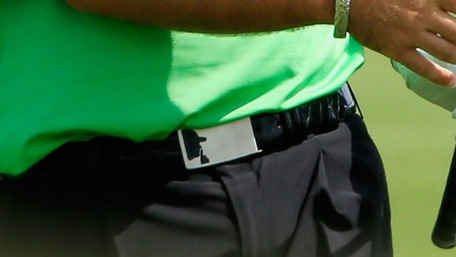 A closer look at Reed's belt.