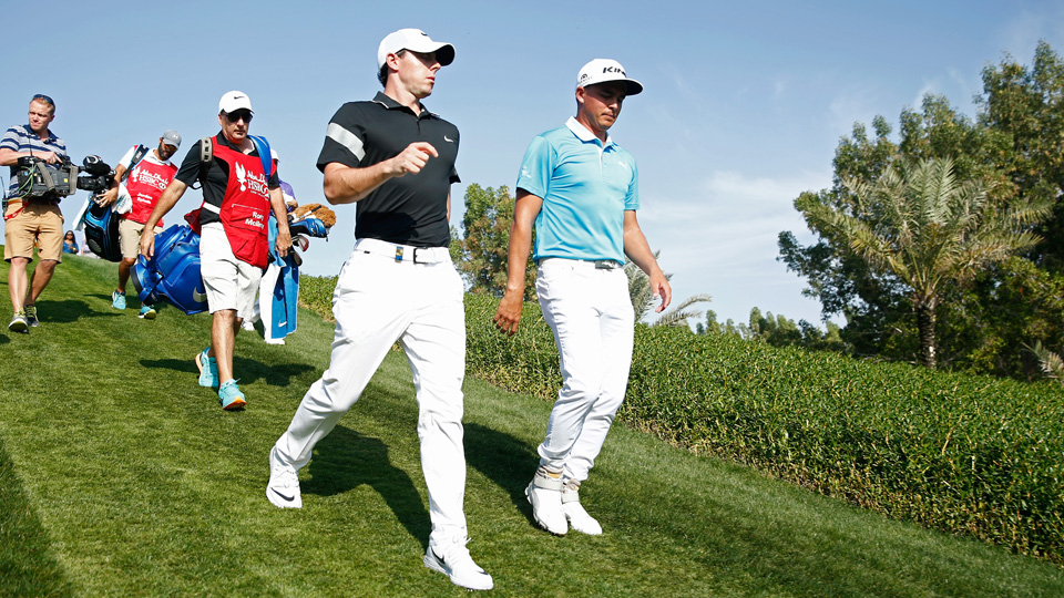 Rory McIlroy (left) and Rickie Fowler won't have their Detroit exhibition after all.