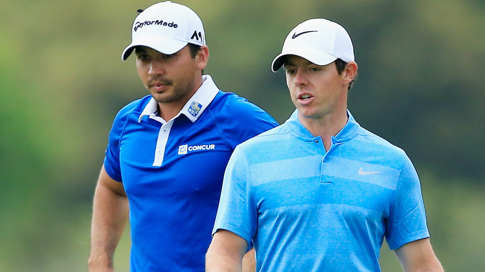 Jason Day (left) beat Rory McIlroy in the semifinals of the WGC-Dell Match Play on Sunday at the Austin Country Club.