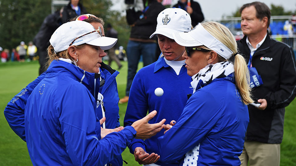 Annika Sorenstam is a three-time assistant Solheim Cup captain.