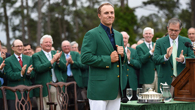 Jordan Spieth opened up his title defense with a 66.