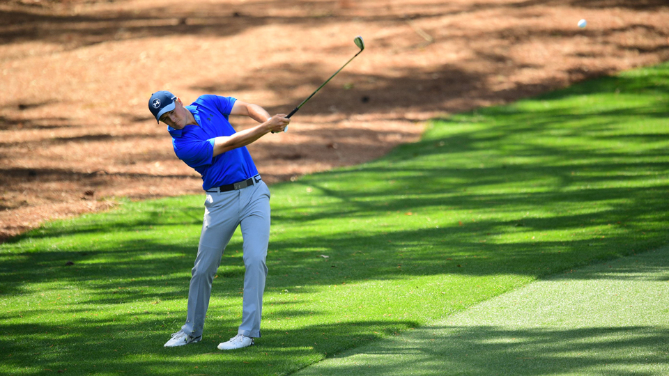 Jordan Spieth slipped up late in his round on Friday, but he sill has the lead after 36 holes.