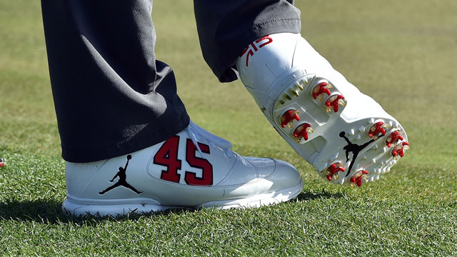 A closer look at Bradley's shoes.