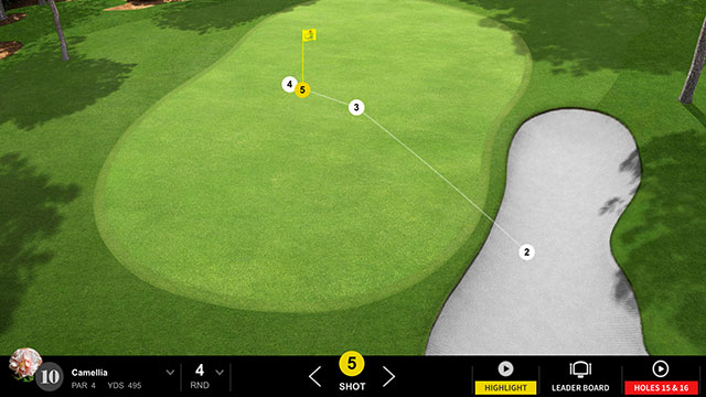Spieth bogeyed the 10th hole after landing his approach in the greenside bunker.