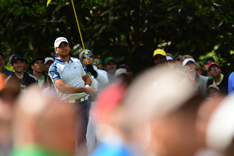 Jason Day hits a tee shot on Sunday at the Masters.
