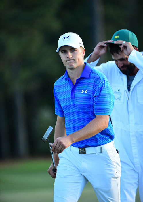 Spieth lost the lead after a disastrous quadruple bogey on the 12th hole when he hit two shots into the water.