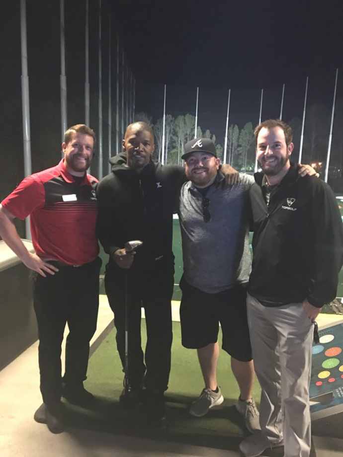 Hey @iamjamiefoxx thanks for sharing your first #Topgolf experience with us at #TopgolfAtlanta the other night!