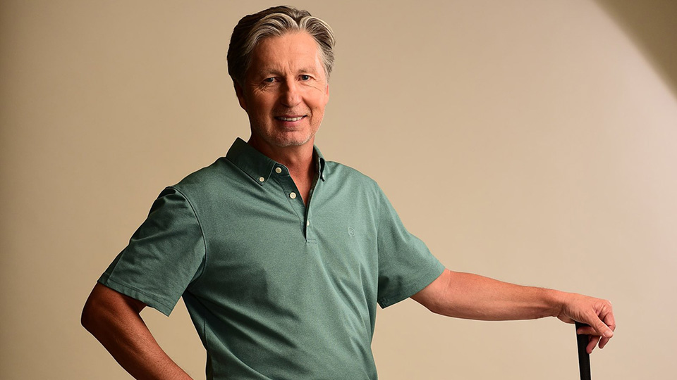 Brandel Chamblee's wardrobe provided by AG Green Label.