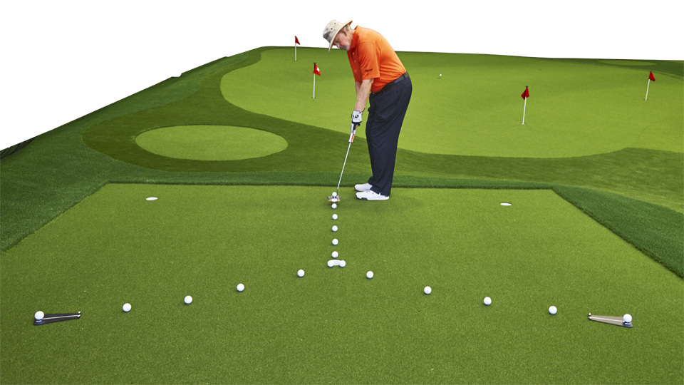 When practicing breaking putts, focus on speed and starting line, not just your stroke.