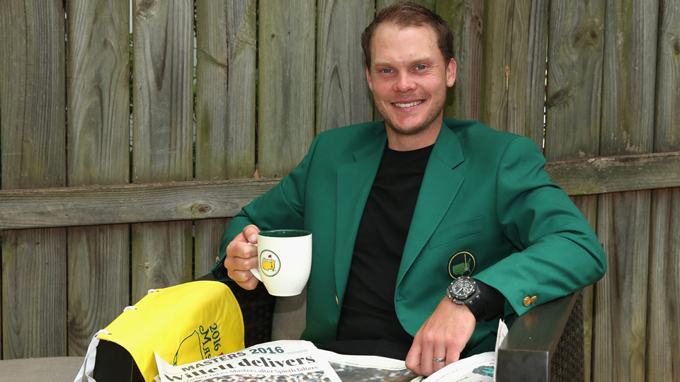 Danny Willett the morning after his big win at the 2016 Masters.