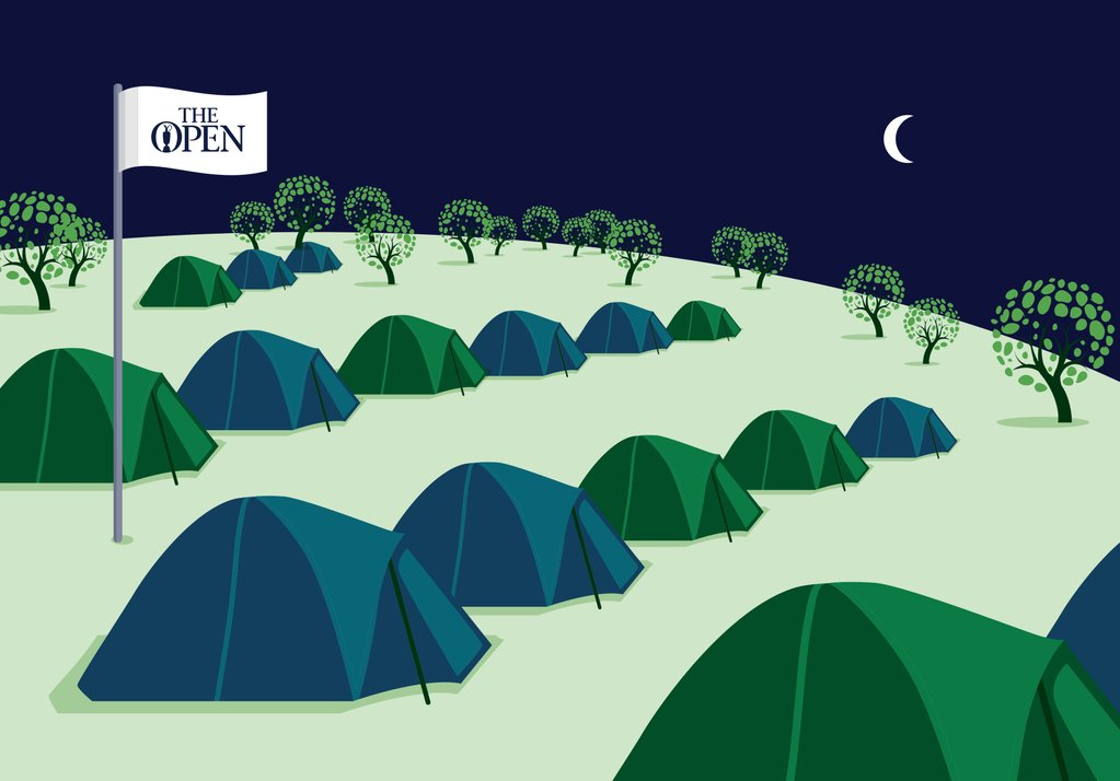 Pre-pitched tents at The Open Camping Village will offer 2-, 4- and 6-person accommodations, with inflatable mattresses.