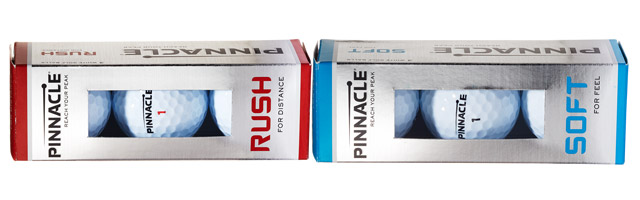 Pinnacle Rush and Soft Golf Balls