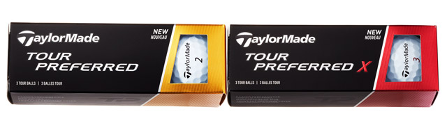 TaylorMade Tour Preferred and Tour Preferred X Golf Balls