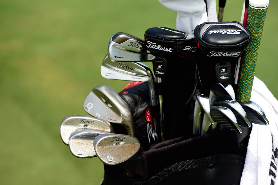 Last month, Charley Hoffman captured The Texas Open with a bag full of Titleist's. He's all set to attack the Players Stadium course at TPC Sawgrass with the Titleist 716 T-MB 20°, Titleist 716 MB irons and Titleist Vokey Design SM5 wedges (46°, 50°, 56°, 58°).