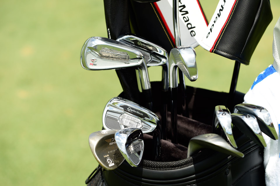 David Hearn boosts the head weight in his TaylorMade irons with old-school lead tape directly behind the sweet spot.