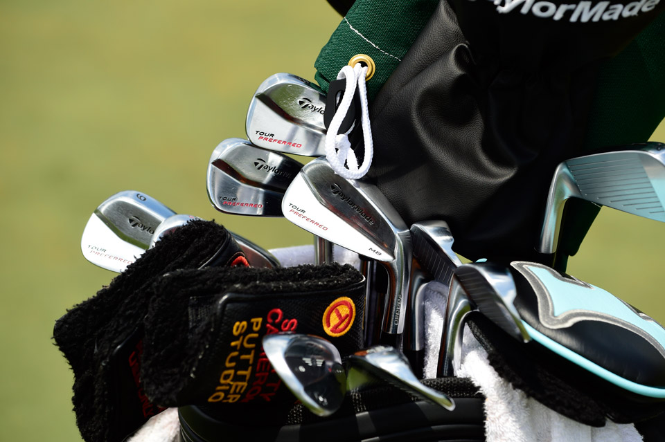 Englishman Greg Owen is locked and loaded at the Players with TaylorMade Tour Preferred MB irons.