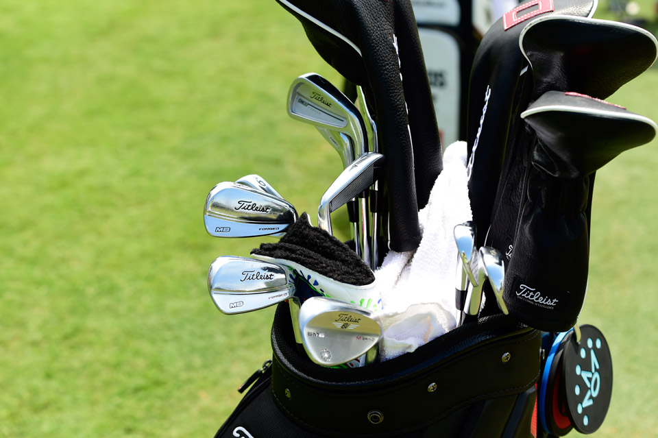 Rafael Cabrera-Bello plays an assortment of Titleist gear including CB Forged long irons, MB Forged short irons and Vokey Design SM6 wedge.