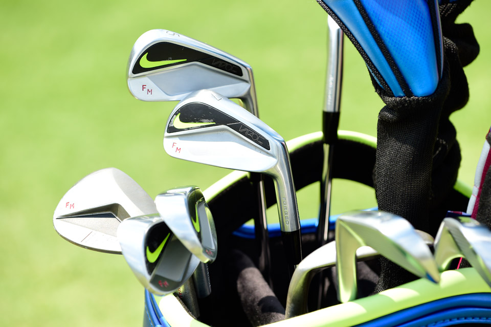 Nike player Francesco Molinari favors Vapor Pro forged irons and Engage wedges and makes sure his initials are emblazoned on each club.