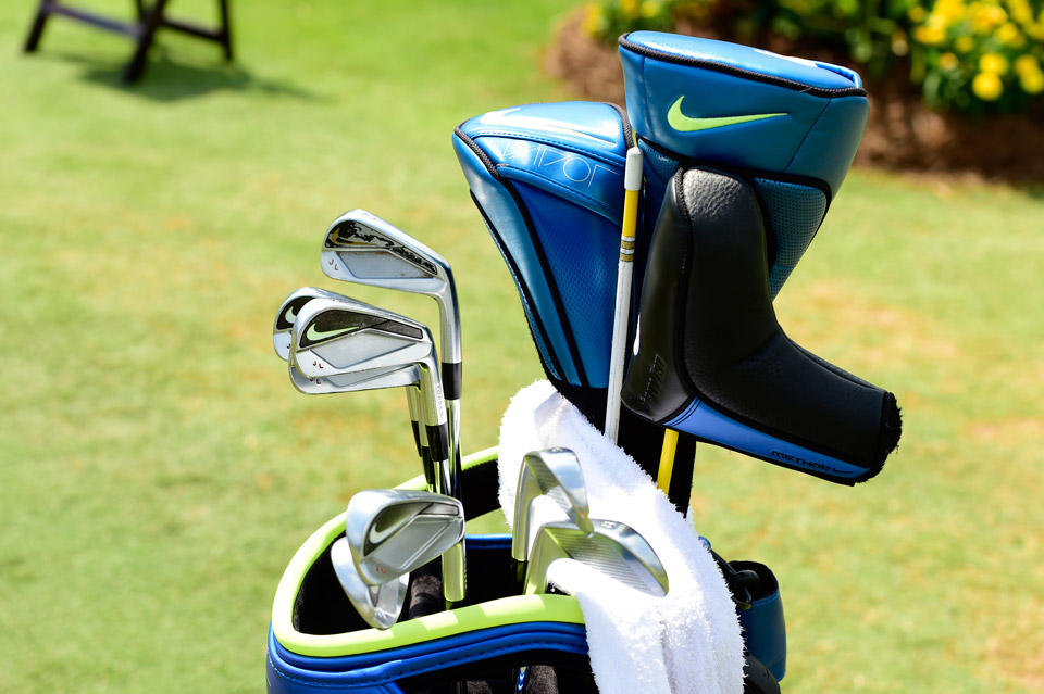"UCLA Bruin Jamie Lovemark also favors Nike Vapor Pro forged irons with his ""JL"" stamped on the toe."
