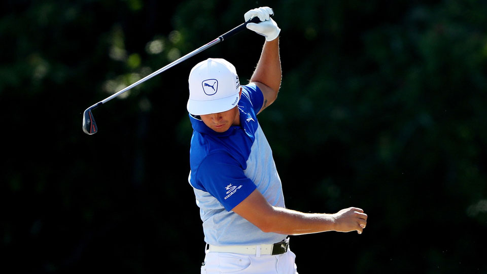 Defending champion Rickie Fowler is in danger of missing the Players cut.