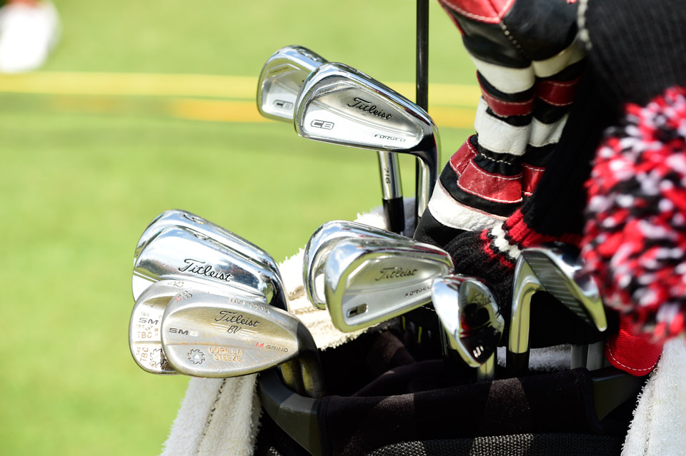 BYU alum Zac Blair is a Titleist guy who carries a mixture of 716 CB Forged and MB Forged irons. You can also tell he likes to custom stamp his SM6 wedges.