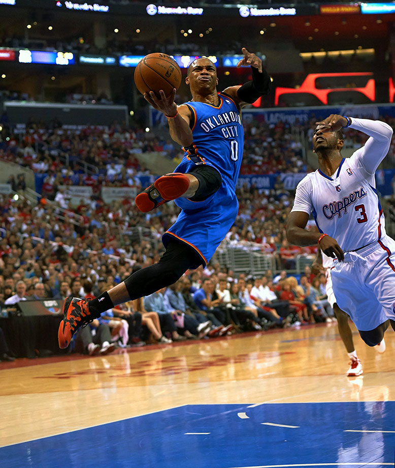 The best may still be to come for Westbrook, Oklahoma City's dynamic point guard who continues to reshape his position and push the limits after a career season in 2014-15. At 26, Westbrook averaged 28.1 points, 8.6 assists and 7.3 rebounds, single-handedly carrying the Thunder when they needed it most. With Kevin Durant returning to the fold, Westbrook's numbers may dip, but his efficiency could improve accordingly. His all-around game gives him the nod over Arenas. — Runner-up: Gilbert Arenas