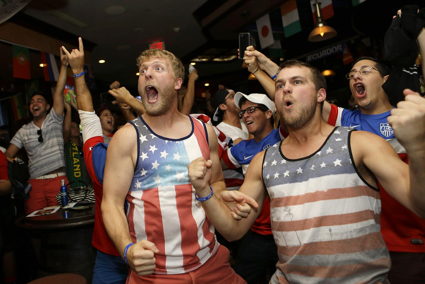 USA fans watching in Miami, Fla.