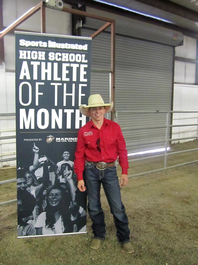 Wyatt Johnson, a junior at Payson High in Utah is the reigning state bareback champion.