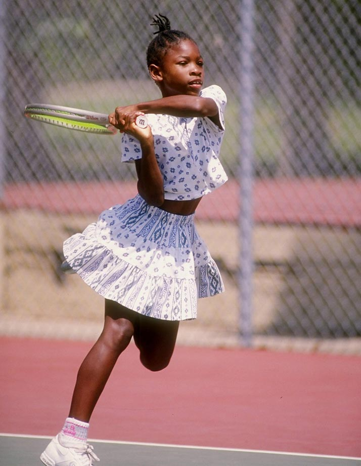Serena Williams as a kid