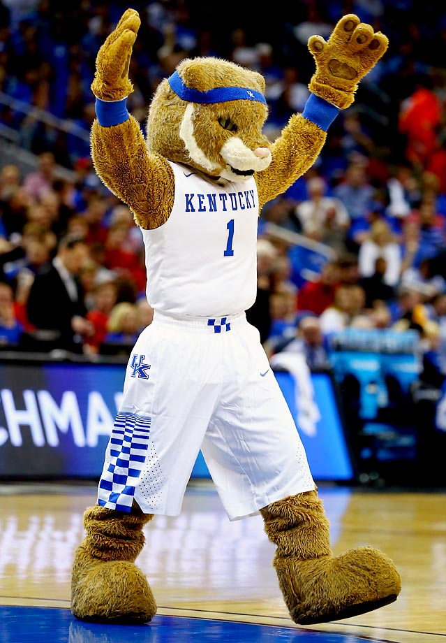 At No. 16 is Kentucky, which is at an immediate disadvantage because of numerous wildcats in the NCAA and quite simply The Wildcat is not helping UK stand out. There are no glaring weaknesses but there is also nothing extraordinary and particularly unique either, thus sending him tumbling down the list. (Text credit: Andrew S. Doughty/NextImpuseSports.com)