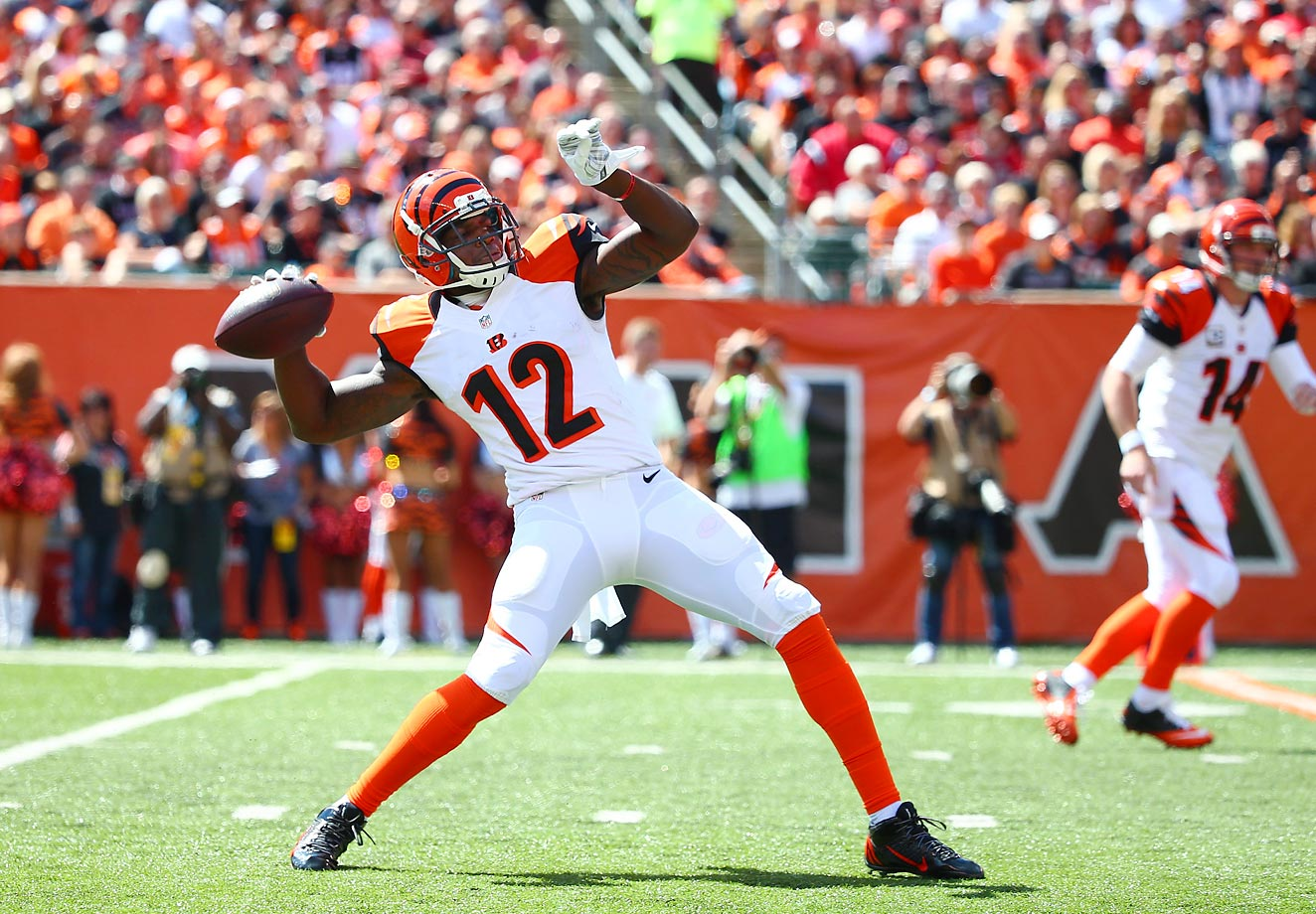 Mohamed Sanu could emerge as the go-to guy in Cincinnati's vertical offense if A.J. Green is going to miss an extended period. Sanu even threw a 50–yard pass on a trick play in Week 2.