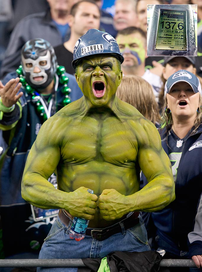 Seahawks fans regained the Guinness record for Crowd noise on Dec. 2 against the Saints, recording a 137.6 decibel reading in the second quarter.
