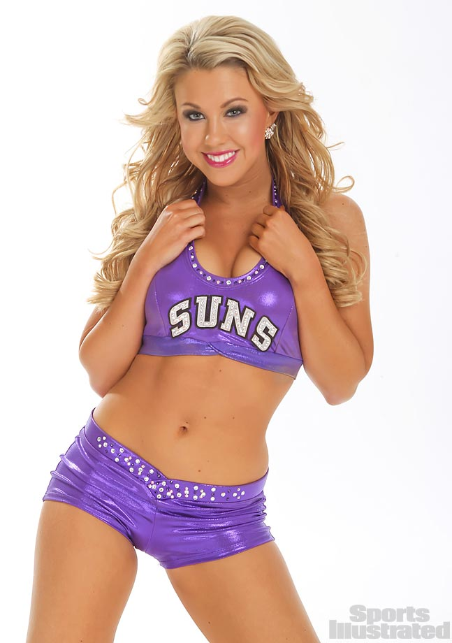 "Meet Ariel of the Phoenix Suns, who dreams of being a crime scene investigator someday, and whose celebrity crush is Charlie Hunnam... ""I fell in love with him while watching Suns of Anarchy!""  Oh, and she also loves Chocolate."