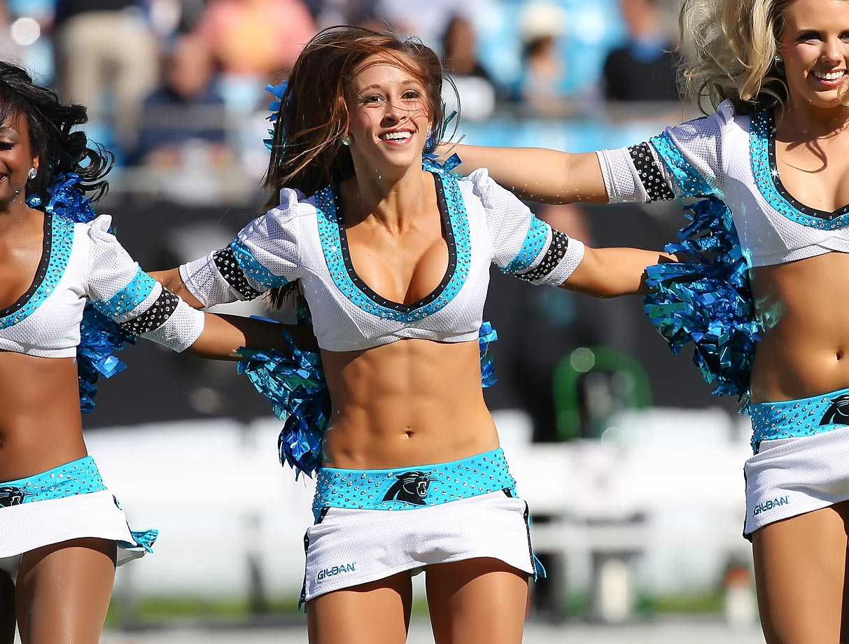 Meet Michaela of the Carolina Panthers, a certified Zumba instructor who loves to do kickboxing in her free time.  She's good at cracking her knuckles, along with pretty much any other part of her body, and her celebrity crush is J.J. Watt, even though he doesn't play for the Panthers.