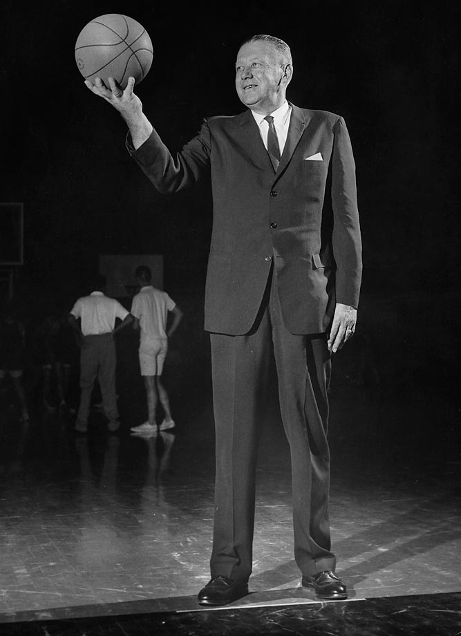 Although he's probably best remembered for his work with the U.S. Olympics basketball teams, Iba won 767 games and two national championships during his 41-year college coaching career. He was a proponent of slow-tempo basketball in the no-shot-clock era, coaching his team's to shoot only when absolutely necessary and to play lockdown defense. His teams didn't break 50 points in either national championship victory.