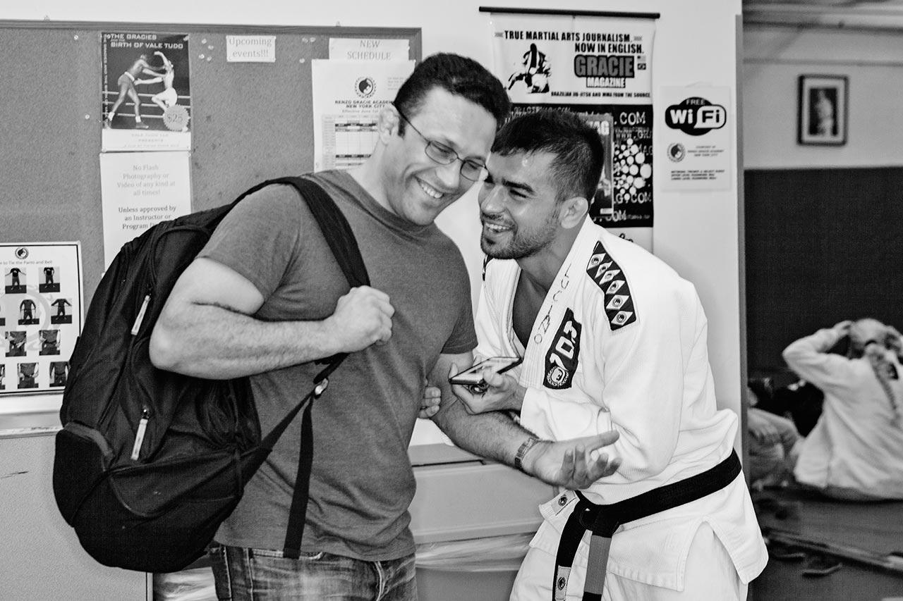 Renzo Gracie (Left) and Luciano Christovam