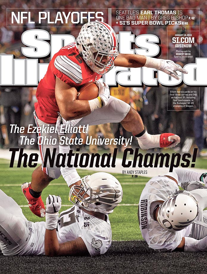 January 19, 2015 | Ohio State is on top of the college football after Ezekiel Elliott and the Buckeyes ran all over Oregon in the National Championship Game.